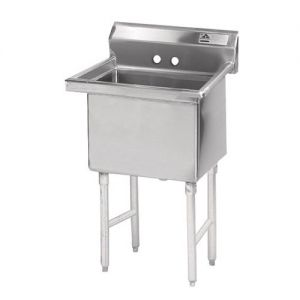 Fabricated One Compartment Sink, 16/304 Stainless Steel, 24 x 24 Bowl