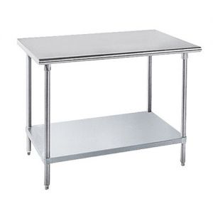 14 Gauge 30 x 120 304 Stainless Steel Work Table with Galvanized Undershelf