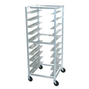 Mobile Oval Tray Storage Rack, Holds 10 Trays