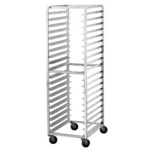 Mobile Front Loading Pan Rack, Holds 15 Full Size Sheet Pans
