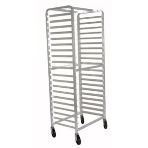 Mobile Side Loading Pan Rack, Holds 15 Full Size Sheet Pans