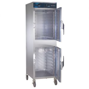 Heated Holding Cabinet, Mobile, Double Compartment