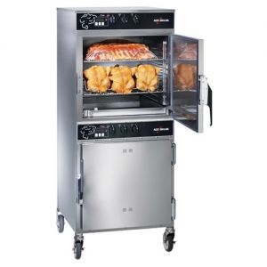 Slo Cook Hold and Smoker Oven, Double Deck, 100 lb Capacity, Manual Control