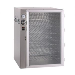 Pizza Holding Cabinet with Glass Door, Stainless Steel, Electric