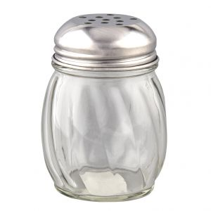Glass Jar Cheese Shaker, 6 Oz