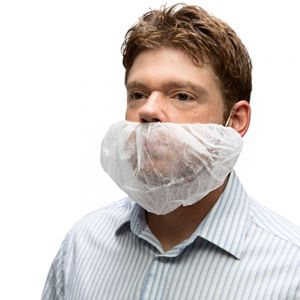 Ammex BR1 Disposable Beard Cover - Pack of 100