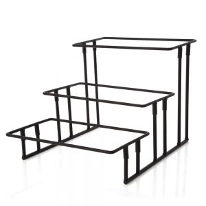 Three-Tier Wrought Iron Rectangular Stand
