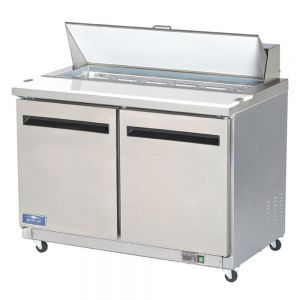 Sandwich/Salad Prep Table, 12 Pans, 12 Cu Ft