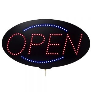 LED Sign, Open Sign, Blue and Red