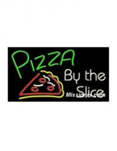 Neon Sign, Pizza Slice Sign, Multicolor