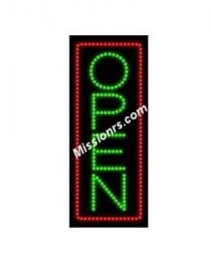 LED Sign, Open Sign, Green and Red