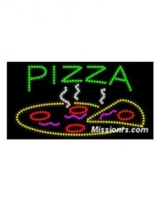 LED Sign, Pizza Sign, Multicolor