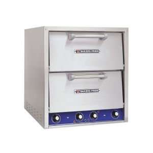 Double Compartment Electric Countertop Pizza and Pretzel Oven - Brick Lined