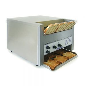 "Bread & Bun Conveyor Toaster - 1 1/2"" Clearance, 1,000 Slices/Hour, 220 Volts"