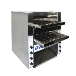 Triple Play Double Entry Conveyor Toaster - 1,100 Slices/Hour, 220 Volt