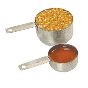 Measure kit (Stainless Steel Popcorn and Oil Measures)