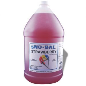 Red Raspberry Snow Cone Syrup, Gallon