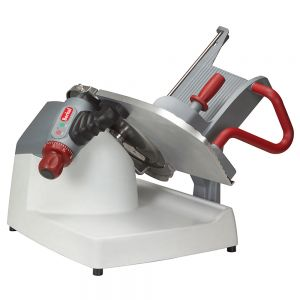 Professional Table Mounted Automatic Slicer, Gravity Feed, 13 Inch Knife