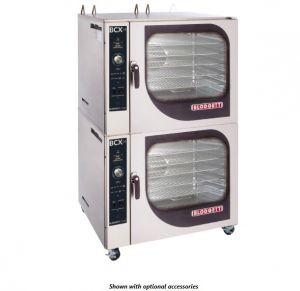 Boiler Based Double Stack Heavy Duty Gas Combi - 7 Wire Shelves