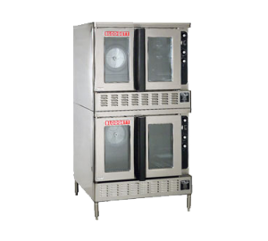 Premium Full Size Bakery Depth Gas Double Stack Convection Oven