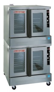 Zephaire Full Size Standard Depth Gas Double Stack Convection Oven - Energy Star