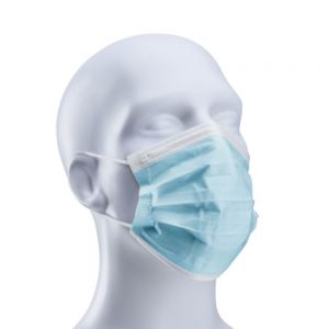 Lollicup GS-PPE200a 3-Ply Face Mask with Elastic Ear Loop (Box of 50)