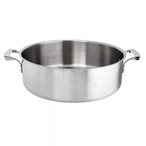 25 Qt. Thermalloy Brazier, Stainless Steel Brazier, Induction Ready