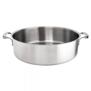 30 Qt. Thermalloy Brazier, Stainless Steel Brazier, Induction Ready