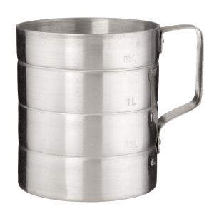 Dry Measuring Cup, 2 Qt. Aluminum Measuring Cup