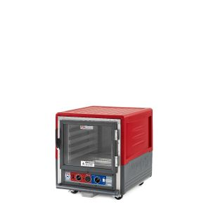Metro C533-CLFC-L C5 3 Series Insulated Holding/Proofing Cabinet, Undercounter, Full Length Clear Door, Lip Load Aluminum, 120V, 60Hz, 1440W, Red
