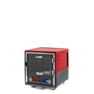Metro C533-CLFC-U C5 3 Series Insulated Holding/Proofing Cabinet, Undercounter, Full Length Clear Door, Universal Wire, 120V, 60Hz, 1440W, Red