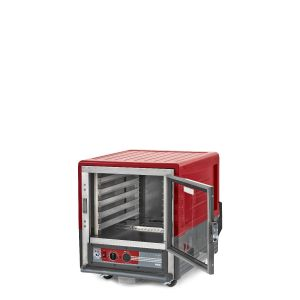 Metro C533-HLFC-L C5 3 Series Insulated Holding Cabinet, Undercounter, Full Length Clear Door, Lip Load Aluminum, 120V, 60Hz, 1440W, Red
