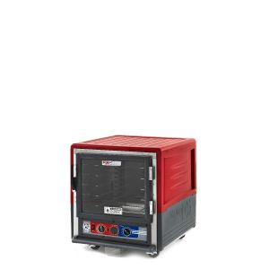 Metro C533-MFC-U C5 3 Series Insulated Moisture Heated Holding/Proofing Cabinet, Undercounter, Full Length Clear Door, Universal Wire, 120V, 60Hz, 2000W, Red