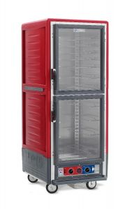Metro C539-CDC-U C5 3 Series Insulated Holding/Proofing Cabinet, Full Height, Dutch Clear Doors, Universal Wire Slides, 120V, 60Hz, 2000W, Red