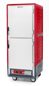 Metro C539-HDS-U C5 3 Series Insulated Holding Cabinet, Full Height, Dutch Solid Doors, Universal Wire Slides, 120V, 60Hz, 2000W, Red