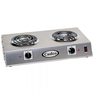 Countertop Double Burner Hot Plate with 6 Inch Tubular Elements