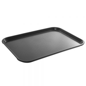 TRAY FAST FOOD 10X14 IN BLACK