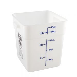 CamSquare 18 Quart White Poly Food Storage Container
