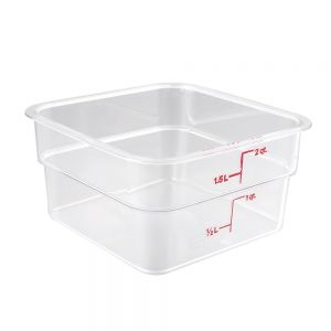 CamSquare 22 Quart Clear Camwear Food Storage Container