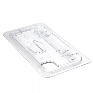 Camwear 1/3 Size Clear Food Pan Cover - Notched FlipLid