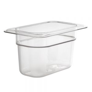 Camwear Ninth Size Food Pan, 4-1/4 x 6-15/16 x 4