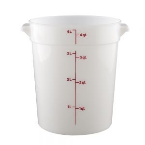 4 Quart Round Poly Food Storage Container