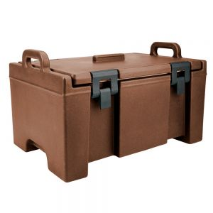 100 Series Food Pan Carrier, Top Loading, Molded-in Handles, Nylon Latches