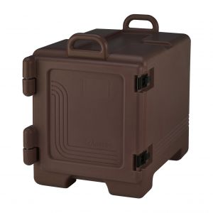 Camcarrier Insulated Food Pan Carrier, End Loader, Dark Brown