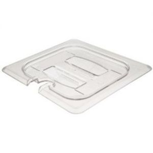Camwear Fourth Size Notched Cover with Handle Food Pan Lid