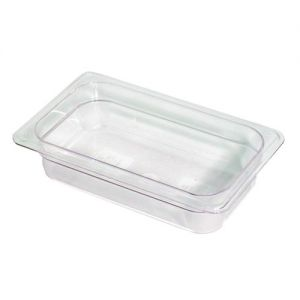 Camwear Fourth Size Food Pan, 6-3/8 x 10-7/16 x 2-1/2