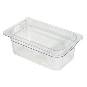Camwear Fourth Size Food Pan, 6-3/8 x 10-7/16 x 4