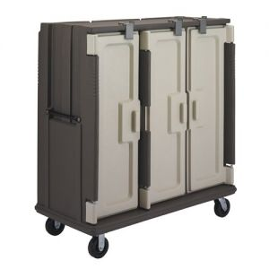 Meal Delivery Cart, Modified For Use In Correctional Facilities, Tall Profile, 3 Doors+Compartments