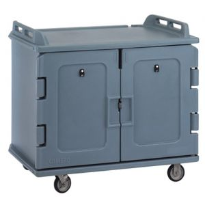 Meal Delivery Cart, Low Profile, 2 Doors, 2 Compartments, Tray Size 14 x 18