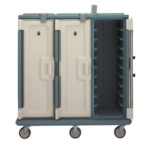 Meal Delivery Cart, Tall Profile, 3 Doors, 3 Compartments, Tray Size 18 x 30